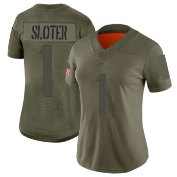 Women's Minnesota Vikings Kyle Sloter Camo Limited 2019 Salute to Service Jersey By Nike
