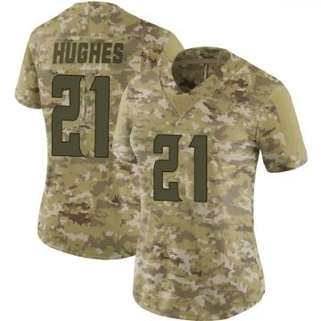 Women's Minnesota Vikings Mike Hughes Camo Limited 2018 Salute to Service Jersey By Nike