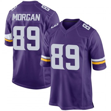 Youth Minnesota Vikings David Morgan Purple Game Team Color Jersey By Nike
