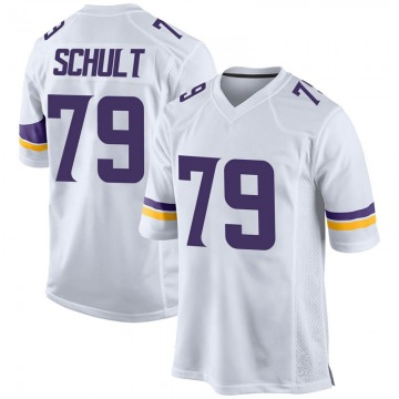 Youth Minnesota Vikings Karter Schult White Game Jersey By Nike