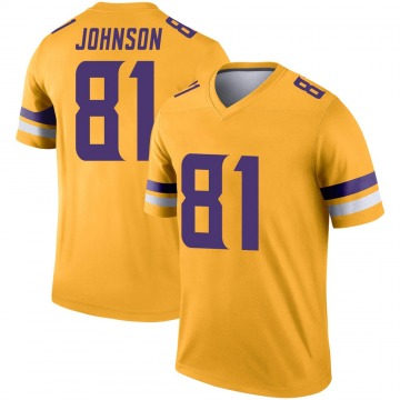 Youth Minnesota Vikings Olabisi Johnson Gold Legend Inverted Jersey By Nike