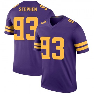 Youth Minnesota Vikings Shamar Stephen Purple Legend Color Rush Jersey By Nike